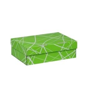 Úložná krabice 205x150x65 mm, zelená se vzorem