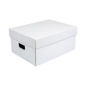 Úložná krabice komplet 430x300x200 mm, bílo/hnědá