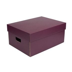 Úložná krabice komplet 430x300x200 mm, vínová matná