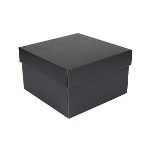Úložná krabice s víkem 250x250x150 mm, černo šedá matná