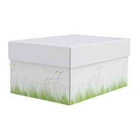 úložná krabice s víkem 250x250x150 mm, dekor 150006