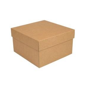 Úložná krabice s víkem 250x250x150 mm, kraftová