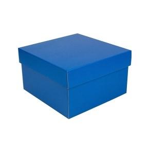 Úložná krabice s víkem 250x250x150 mm, modrá matná