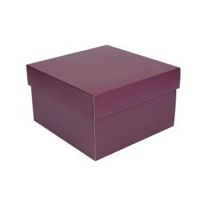 Úložná krabice s víkem 250x250x150 mm, vínová matná