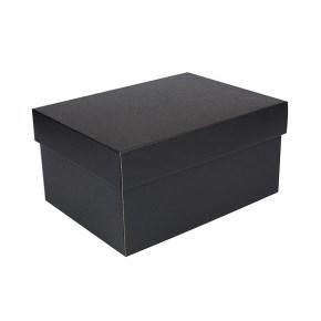 Úložná krabice s víkem 300x215x150 mm, černo šedá matná