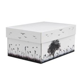 úložná krabice s víkem 300x215x150 mm, dekor 150008