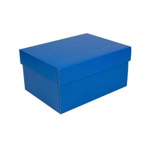 Úložná krabice s víkem 300x215x150 mm, modrá matná