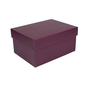 Úložná krabice s víkem 300x215x150 mm, vínová matná