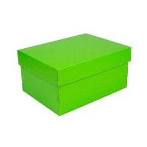 Úložná krabice s víkem 300x215x150 mm, zelená matná
