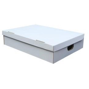 Úložná krabice s víkem 400x300x180 mm, BÍLÁ