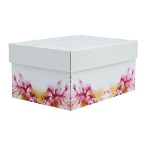 úložná krabice s víkem 430x300x150 mm, dekor 150005