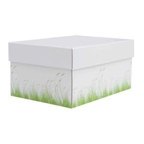 úložná krabice s víkem 430x300x150 mm, dekor 150006