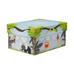 úložná krabice s víkem 430x300x150 mm, dekor 150009
