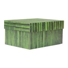 úložná krabice s víkem 430x300x250 mm, dekor 150004