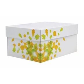 úložná krabice s víkem 430x300x250 mm, dekor 150007