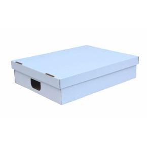 Úložná krabice s víkem 500x500x140 mm, BÍLÁ