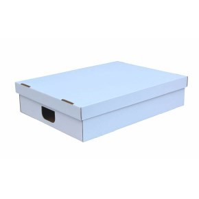 Úložná krabice s víkem 530x380x120 mm, BÍLÁ