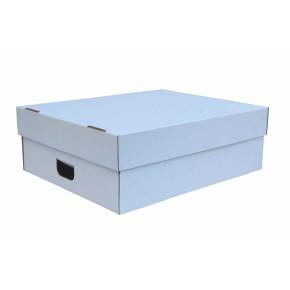 Úložná krabice s víkem 750 x 600 x 180 mm, BÍLÁ