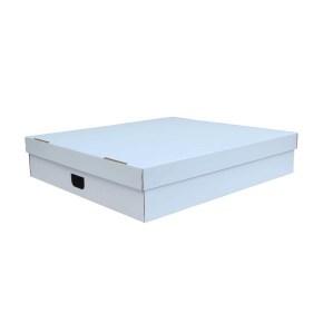 Úložná krabice s víkem 770x700x160 mm, BÍLÁ