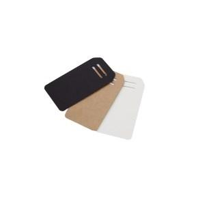 Visačky/jmenovky na dárky, tvar obdélník 95x50 mm, hnědá, 10 ks