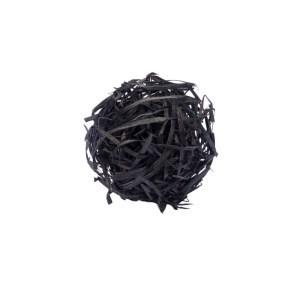 Vlna dřevitá barevná, černá 1 kg