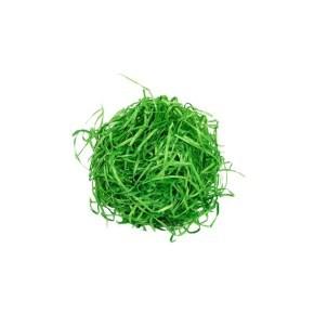 Vlna dřevitá barevná, zelená 1 kg