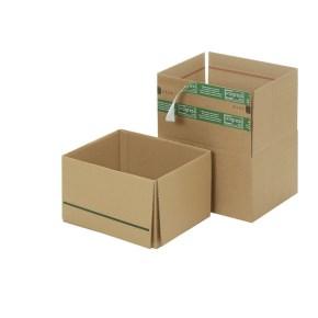 Zásilková krabice REVERSE 305x250x175 mm, samolepící klopy